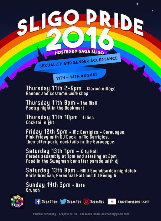 Sligo Pride 2016 poster