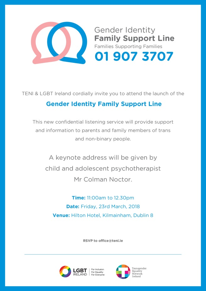 Gender Identity Family Support Line